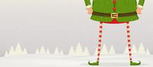 Christmas Composition Of Feet ...