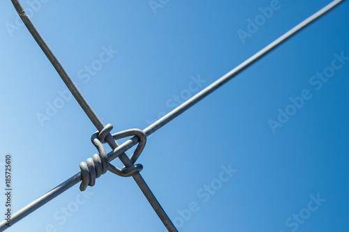 Nudo de alambre de acero para valla o cercado Canvas Print
