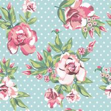 Rose Flowers Seamless Pattern ...