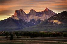 Three Sisters Mountain At Sunr...