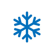 Snowflake Sign. Blue Snowflake...