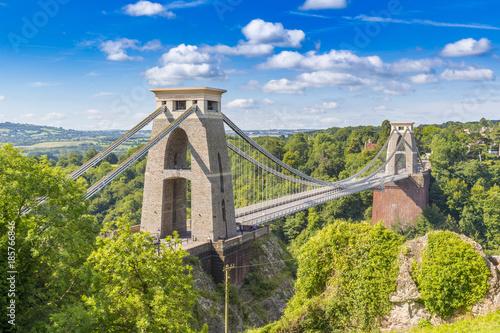 Cuadros en Lienzo  Clifton Suspension Bridge, Bristol, Avon, England, UK
