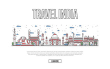 Travel India Poster With Archi...