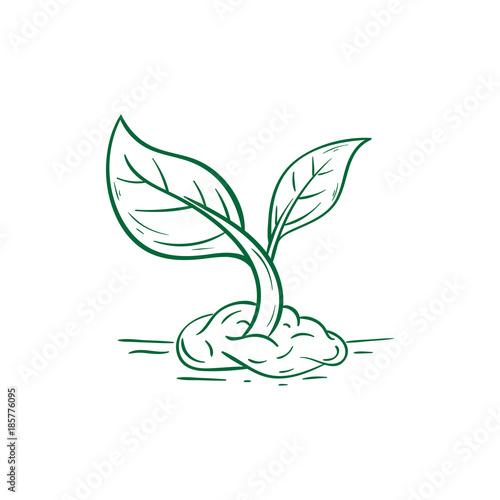 Fototapeta go green growth eco illustration obraz na płótnie