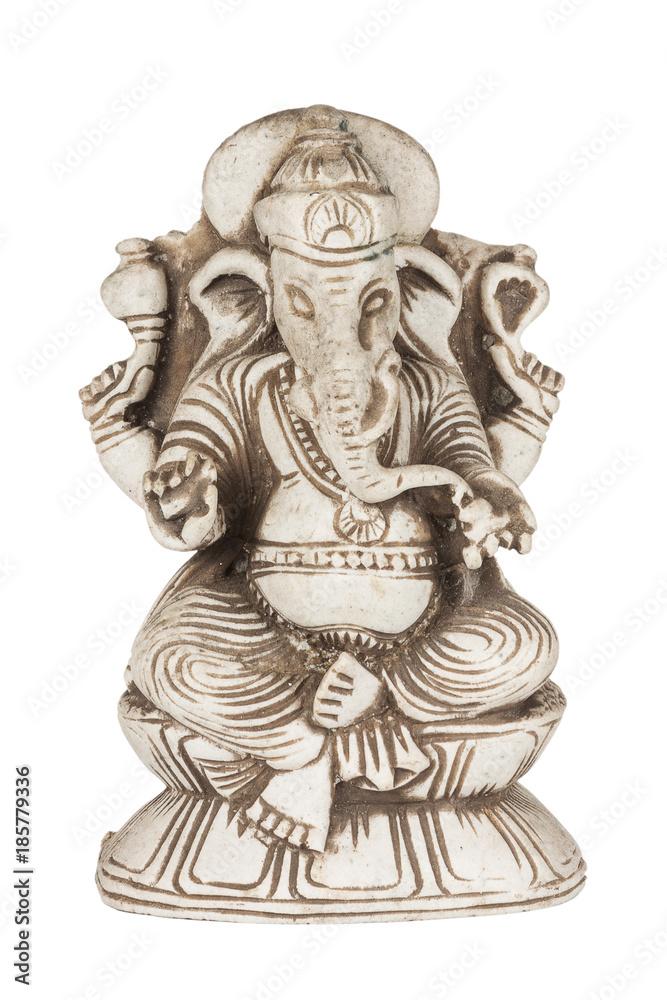 Beautiful Ancient Stone Figurine Of Hindu God Of Wisdom And Prosperity Ganesh Ganapati Elephant God Wall Mural Doomu
