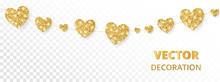 Golden Hearts Frame, Seamless ...