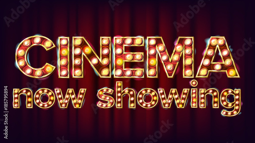 Cinema Now Showing Banner Vector Canvas Print