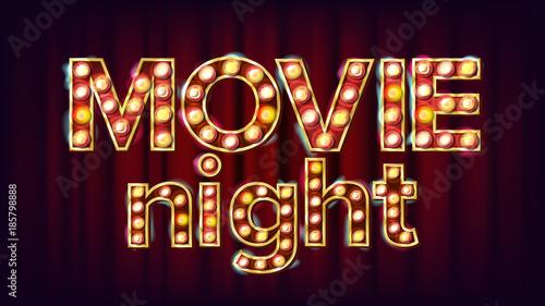 Movie Night Background Vector Canvas Print