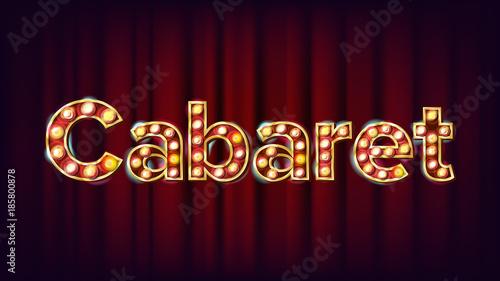 Photo  Cabaret Banner Vector