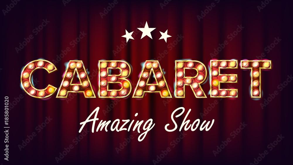Photo  Cabaret Amazing Show Banner Vector
