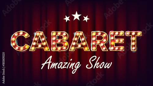 Photo  Cabaret Amazing Show Banner Vector