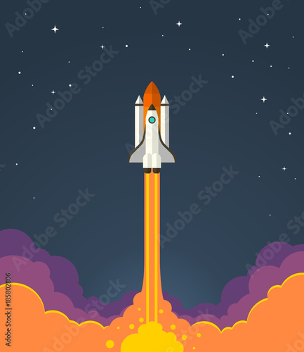 Foto  Space rocket launch