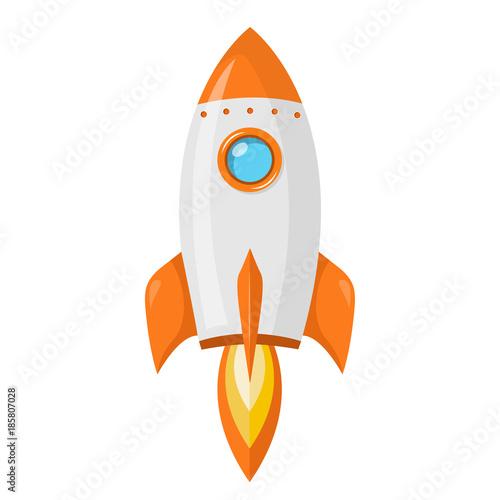 Foto  Rakete Flat Design Icon