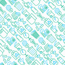 Garbage Seamless Pattern With ...