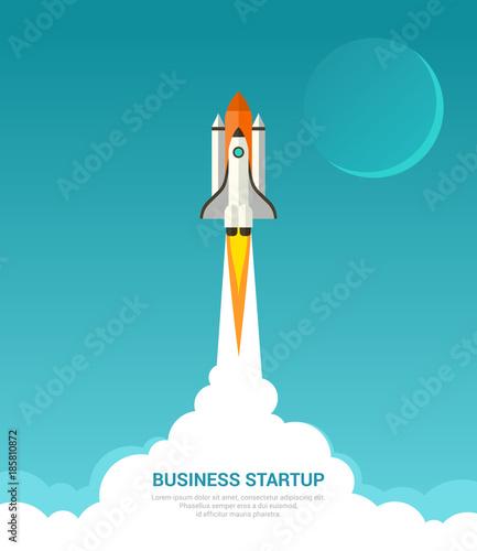 Fotografie, Obraz Business startup concept