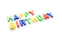 Happy Birthday, Magnetbuchstab...