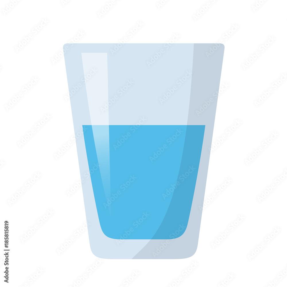 Fototapeta Glas Wasser Flat Design Icon