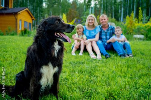 Plakat Piknik rodzinny z psem