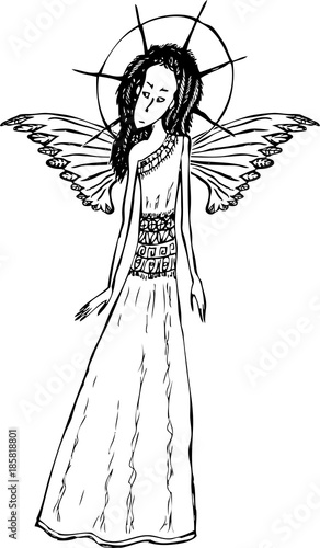 Young Angel Girl Buy This Stock Vector And Explore Similar Vectors