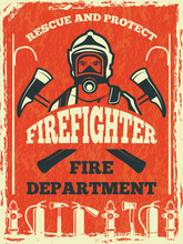 Poster For Firefighter Departm...