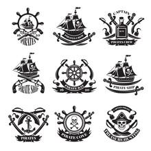 Pirate Skull, Corsair Ships, S...