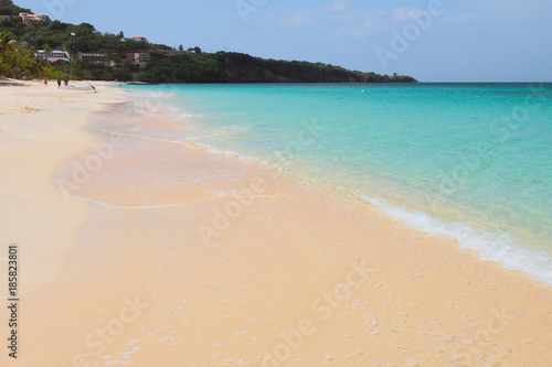Foto auf Acrylglas Tropical strand Sandy beach, sea and cape. St. George's, Grenada