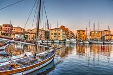 Boats In La Maddalena Harbor A...
