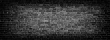 Black Old Brick Wall Panoramic...