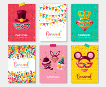 Carnival Colorful Posters Set,...