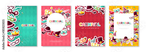 Fotomural Carnival colorful posters set