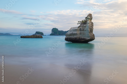Spoed Foto op Canvas Cathedral Cove New Zealand, Cathedral Cove Beach
