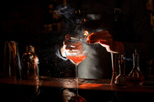 Bartender Setting Fire To Swee...