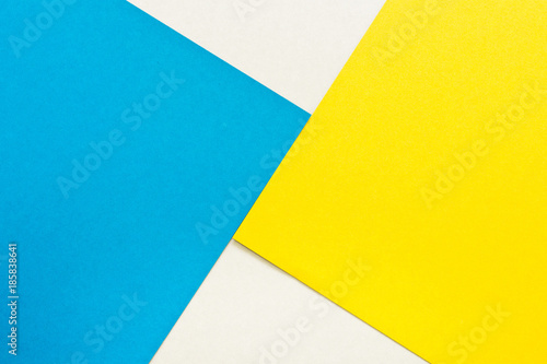 Bright Blue And Yellow Color Paper Texture Background Trend Colors Geometric Colorful Of Soft