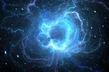 Blue Glowing Giant Lightning E...