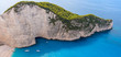 Famous Shipwreck beach. Beach of Navagio, Zakynthos, Greece.