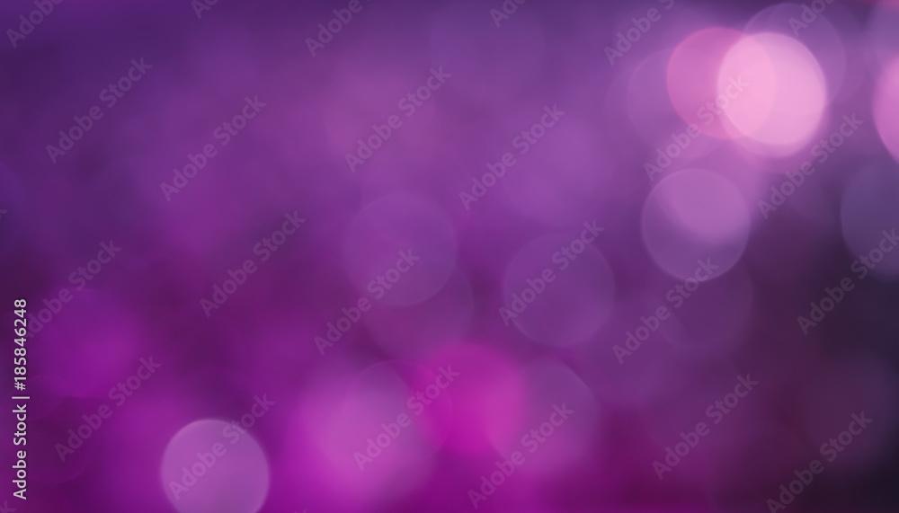 Fototapety, obrazy: Bokeh Purple Lilac gradient Background