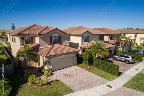 Aerial photo single family homes Florida USA