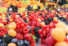 Fresh Fruits Sold In Market