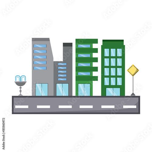 Cadres-photo bureau Cartoon voitures city buildings design
