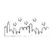 buildings cityscape silhouette icon