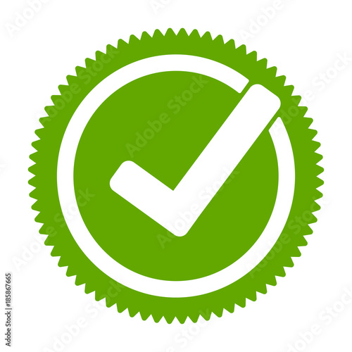 Photo  Green approved star sticker