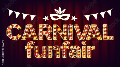 Fotografie, Obraz  Carnival Funfair Background Vector