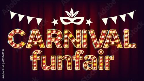 Fototapeta Carnival Funfair Background Vector