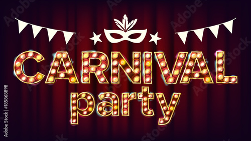 Photo  Carnival Party Poster Vector