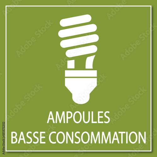 Logo ampoule basse consommation. Wallpaper Mural