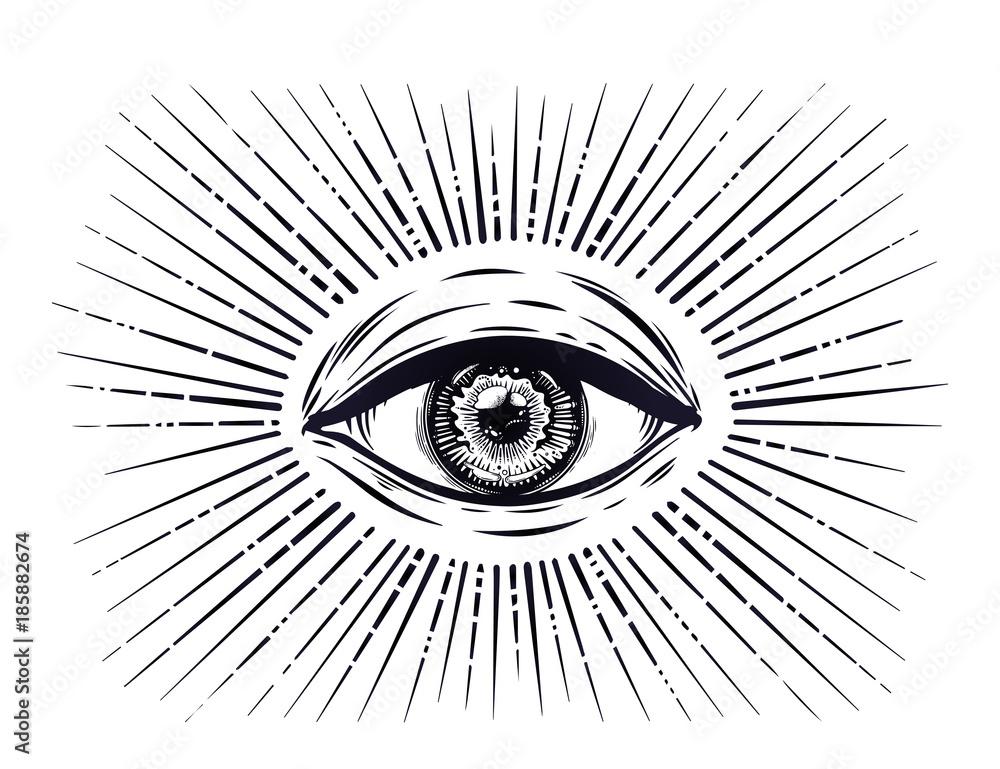 Fototapeta All seeing eye symbol. Eye of Providence.