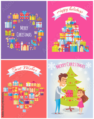 happy birthday merry christmas vector illustration