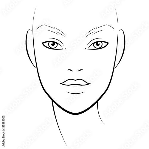 Men face chart makeup artist blank template vector illustration men face chart makeup artist blank template vector illustration maxwellsz