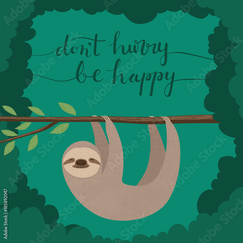 don't hurry, be happy Wallpaper Mural
