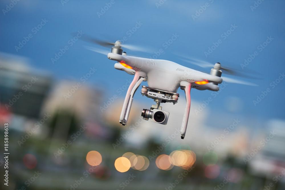 Fototapety, obrazy: drone quadcopter with digital camera
